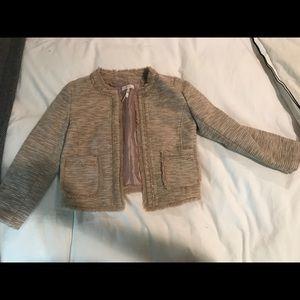 Frenchi XS tweed style jacket nude pink
